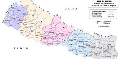 Nepal alle district kart